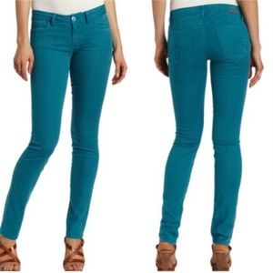 Level 99 Lily Skinny Largo skinny jeans teal EUC